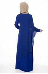 5046 Inci Detayli Elbise - Saks-5
