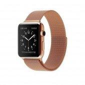 Apple Watch 2 3 Metal Mıknatıslı Hasır Kordon Mila...