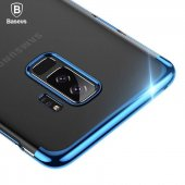 Baseus Glitter Case Samsung Galaxy S9 Plus Kılıf Şeffaf Sararmaya