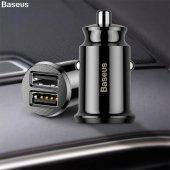 Baseus Mini Dual 2 Usb 3.1a Max Çıkışlı Hızlı Araç...