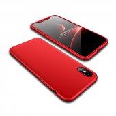 Apple İphone X 360 �derece Fit Tam Koruma Kılıf Ön Arka Yan Alt Üs