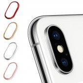 Apple İphone X Metal Kamera Koruyucu Lens Koruma Ç.ç