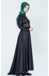 Tafta Etek Payet Bluz Ikili Tkm 9002 - Siyah-3
