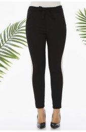 Y359 Şeritli Spor Pantolon - Siyah