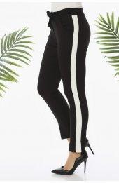 Y359 Şeritli Spor Pantolon - Siyah-3