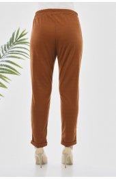 Y363 Yazlik Rahat Kesim Pantolon - Taba-4