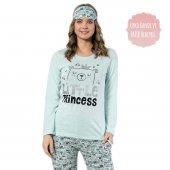 Little Princess Desenli Uzun Kollu Bayan Pijama Takımı-2