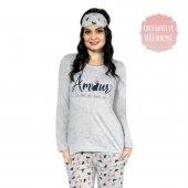 Amour Desenli Uzun Kollu Bayan Pijama Takımı-2