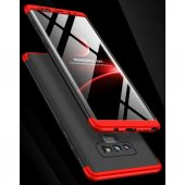 Samsung Galaxy Note 9 Kılıf Ays 360 Derece Tam Koruma Kapak Kırmı