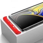 Samsung Galaxy Note 9 Kılıf Ays 360 Derece Tam Koruma Kapak Kırmı-4