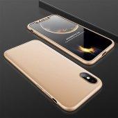 Huawei P20 Lite Fit 360 �derece Tam Koruma Kılıf Gold
