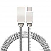 2.4a Yaylı Metal Type C Hızlı Şarj Kablosu Ve Data Kablo