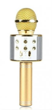 Ws 858 Karaoke Bluetooth Mikrofon Ve Taşınabilir Hoparlör Gold