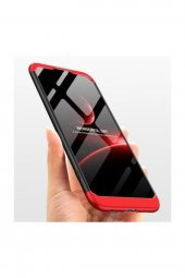 Huawei P20 Lite Fit 360 �derece Tam Koruma Kılıf Kırmızı Siyah