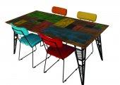 Style Yemek Masa Sandalye Takımı Masa+6 Adet Sandalye