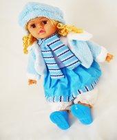 Akkuzu Oyuncak Kıvırcık Saçlı Şapkalı Renkli Bebek 1725 1 45 Cm