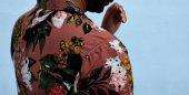 Çiçek Desenli Vintage 90lar Retro Giyim-4