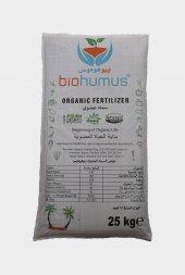 Biohumus Organik Gübre Bitki Besin Gübresi 25 Kg Tekli (İhraç Fazlası)
