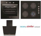 Oscar (Simfer) Cam Siyah Ankastre Set (8032 + 3601 + 5658)