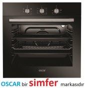 Oscar 8032 0+6 Fonksiyon Siyah Ankastre Turbo Fırın