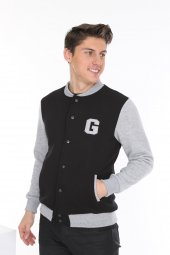 Genıus Store Erkek Kolej Mont Ceket Sweat+sweatshirt (Yeni Sezon)