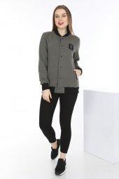 Genıus Store Kadın Kolej Mont Ceket Sweat+sweatshirt (Yeni Sezon)