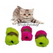 Tüylü Silindir Kedi Oyuncağı (Oyuncak Fare li)