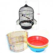 A002 Silindir Kuş Kafesi Boyalı Mix Renk Seçenekli...