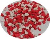 Akvaryum Kırmızı Beyaz Renkli Çakıl 8 10mm 1kg Paket