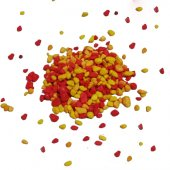 Akvaryum Sarı Kırmızı Renkli Çakıl 8 10mm 1kg...