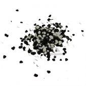 Akvaryum Siyah Beyaz Renkli Çakıl 8 10mm 1kg Paket