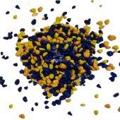 Akvaryum Sarı Lacivert Renkli Çakıl 8 10mm 1 Kg...