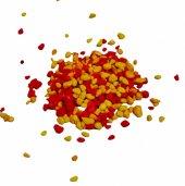 Akvaryum Sarı Kırmızı Renkli Çakıl 8 10mm...
