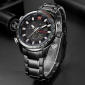 NaviForce Lüks Tasarım Çelik Saat Dijital Erkek Kol Saati NF9093-10