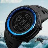 Skmei 1251 Su Geçirmez Sporcu Erkek Kol Saati Dijital Işıklı Saat