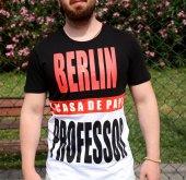 La Casa Da Papel Berlin-Profesör Siyah Beyaz Tshirt-2