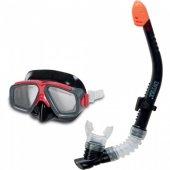Intex Siyah Deniz Havuz Şnorkel Kamp Maske Set