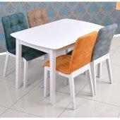 Parma Kare Beyaz Masa Sandalye Takımı