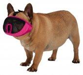 Trixie Kısa Burun Köpek Ağızlığı, M 27cm Pembe...