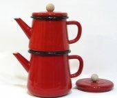 Luyano Emaye Çaydanlık Takımı 1 No