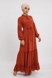 Loreen Kadın Kiremit Elbise 22119