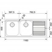 Franke Logica Line LLX 621 Paslanmaz Çelik Evye-2
