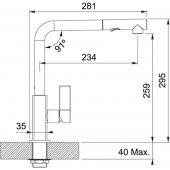 Franke Maris Duşlama özellikli spiralli Krom Armatür-2