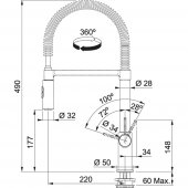 Franke Fox Pro Spiralli Krom Armatür-2