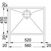 Franke Planar Tezgahaltı PPX 110-52 Paslanmaz Çelik evye-2