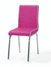 Kaykolsan Deri Pembe Metal Ayaklı Masa Sandalyesi Bm 005