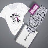 Mickey Mouse Desenli Kısa Kollu Pijama Takımı-2