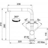 Franke Active Plus Spiralli Fragranite Oyster Armatür-2