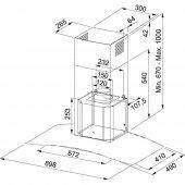 Franke Glass soft FGC 925 BK/XS Paslanmaz Çelik - Siyah Davlumbaz-2