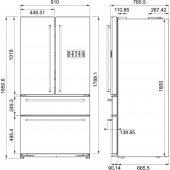 Franke Side by Side FRFD 6020 NF XS A+ Paslanmaz Çelik Buz Dolabı-2